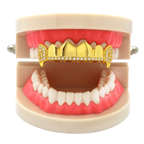 GOLD TOP GRILLZ 1LINE FANG
