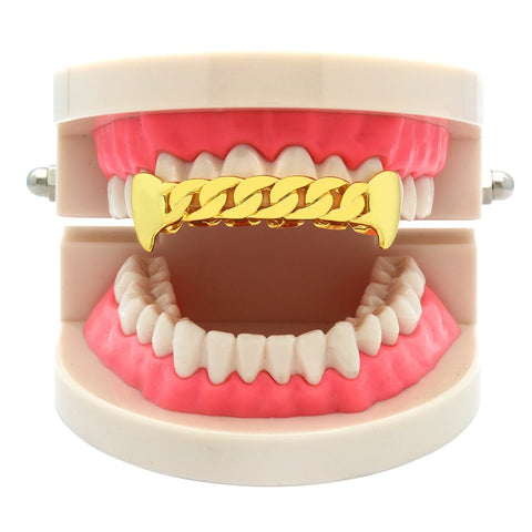 GOLD TOP GRILLZ CUBAN PLAIN