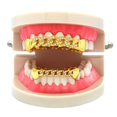 GRILLZ SET GOLD CUBAN CZ