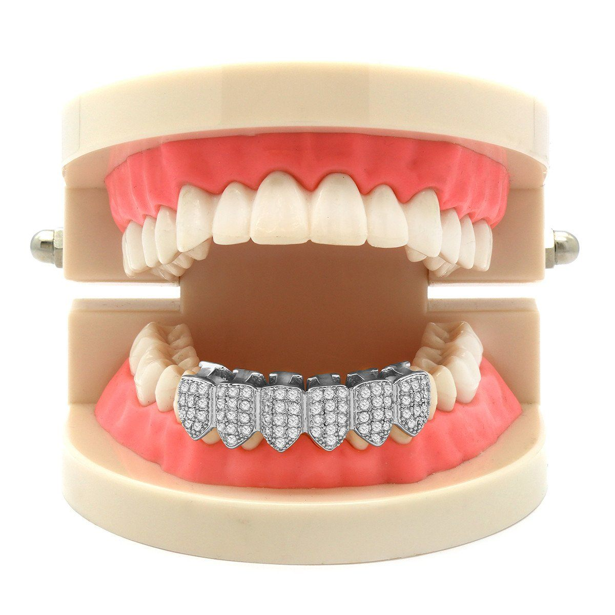 Silver Plated Micro Pave Fully CZ Best Grillz Bottom fa2553aebf62