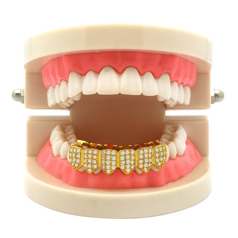 GOLD BOTTOM GRILLZ CZ