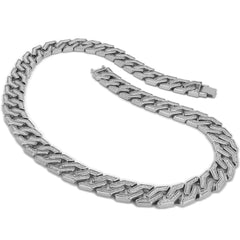 SILVER SQUARED STARDUST CHAIN