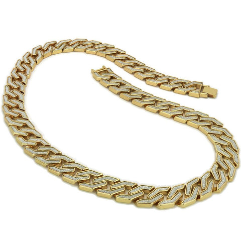 GOLD SQUARE STARDUST CHAIN