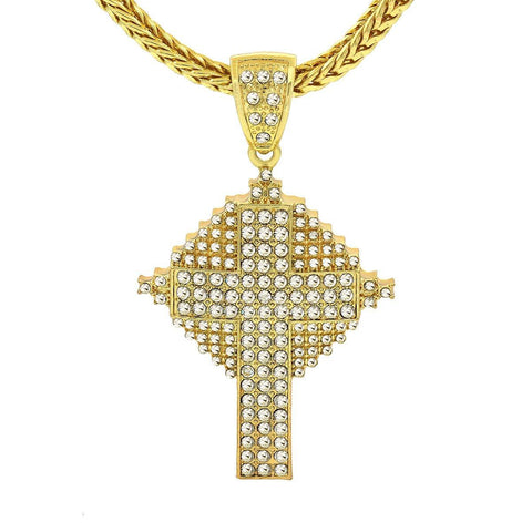 Gold Filled Celtic Cross Pendant with Franco Chain