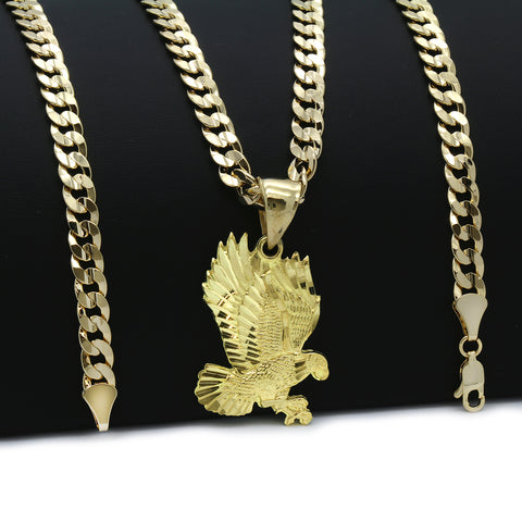14K GOLD PLATED EAGLE PENDANT/CHAIN