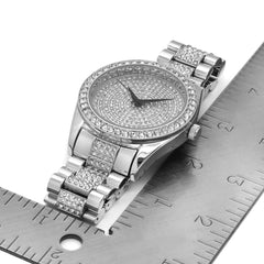 Silver Fully Ice Out Techno Pave Rlx Style Watch