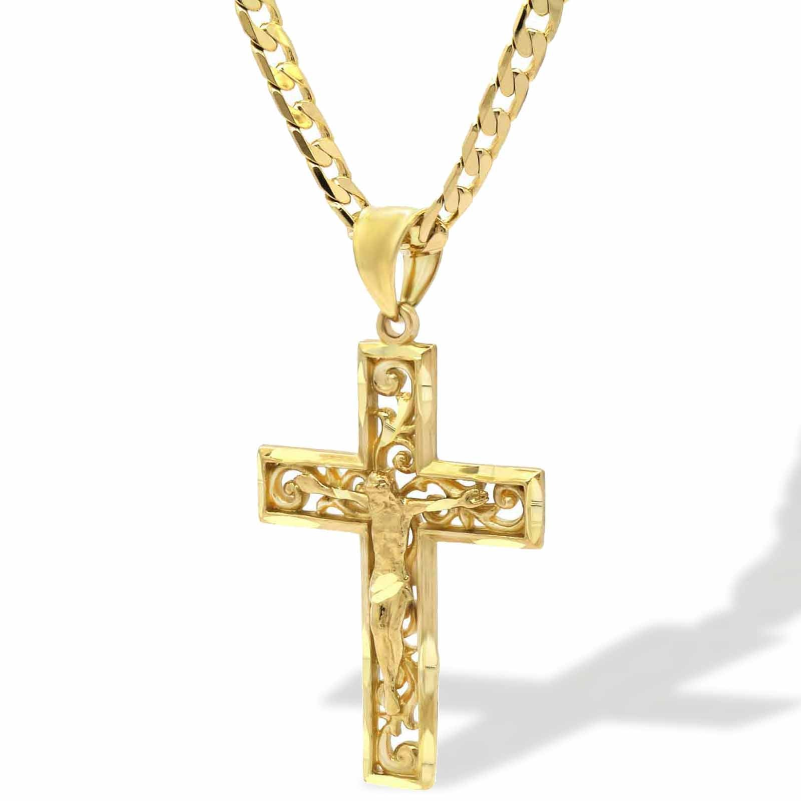 WIRED CROSS CRUCIFIX PENDANT