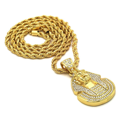 14k Gold Filled Pharaoh with Rope Chain