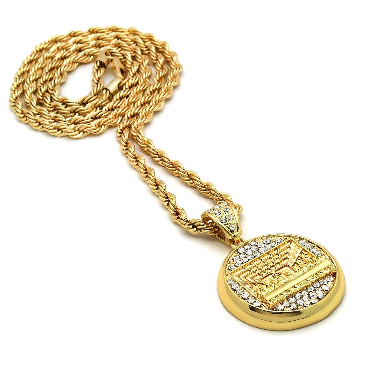 14k Gold Filled Last Supper Pendant with Rope Chain