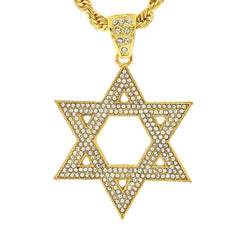 14k Gold Filled Star of DAvid Pendant with Rope Chain