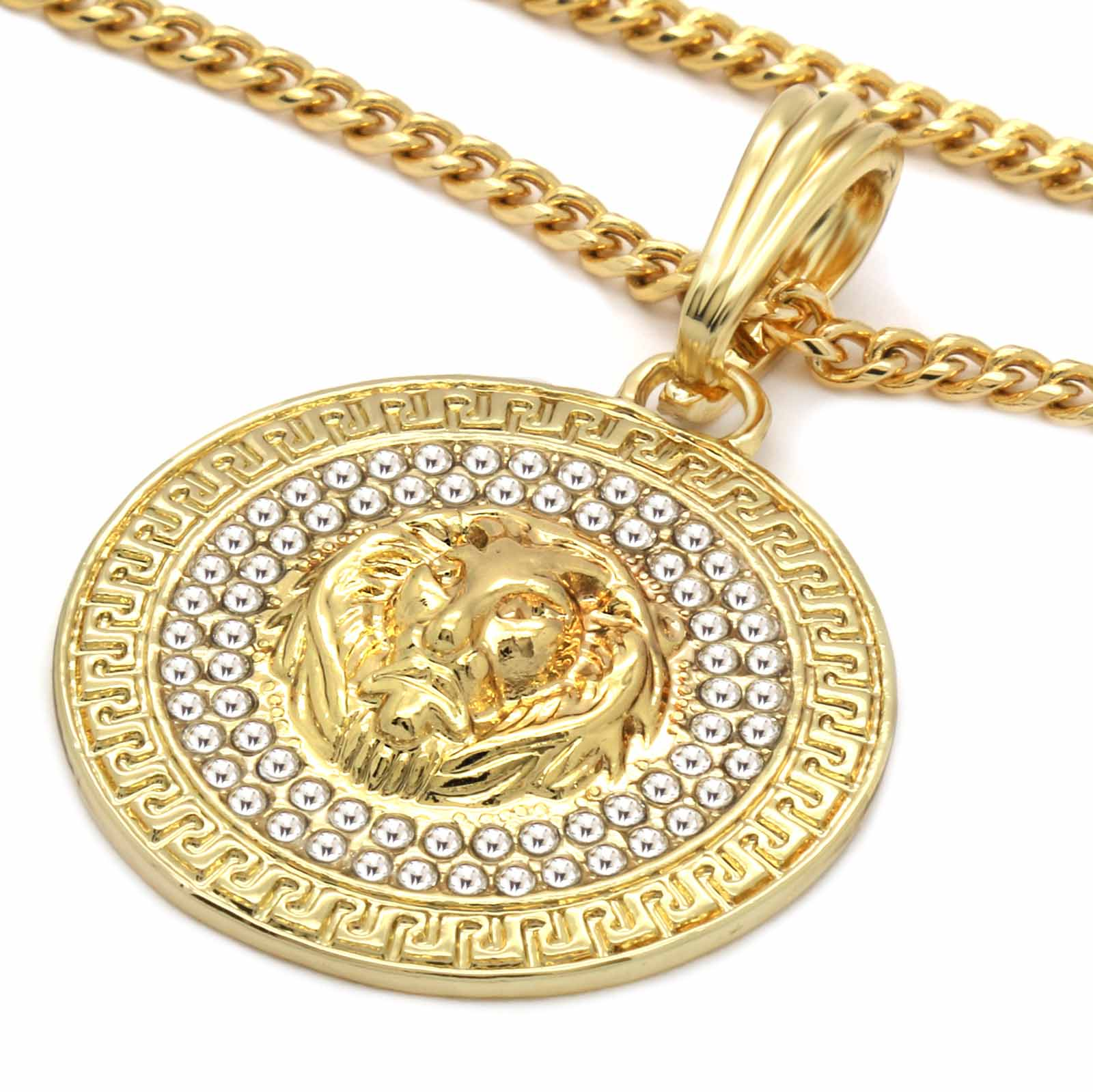 COIN LION NECKLACE PENDANT