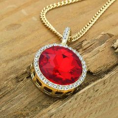 JADE RED NECKLACE PENDANT