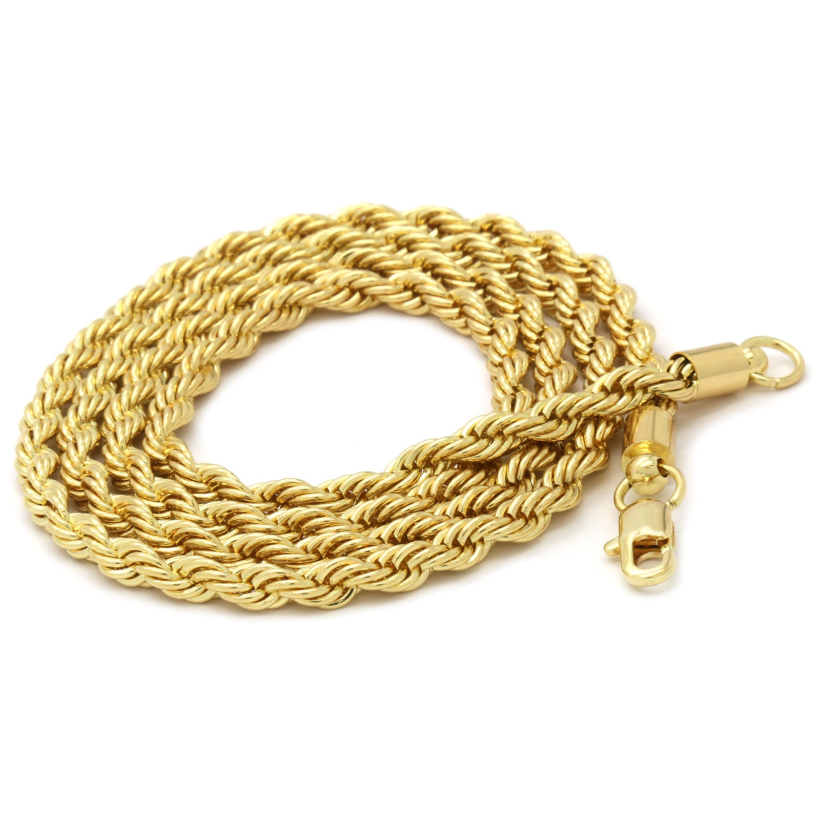 DRIP FTW PENDANT WITH GOLD ROPE CHAIN