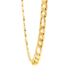 "14K GOLD FINISH 30'' INCH 12MM WIDE FIGARO LINK CHAIN NECKLACE  24""/30""/9"""