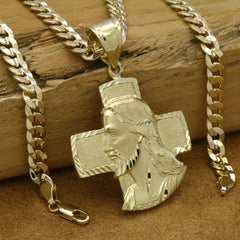 JESUS FACE CROSS PENDANT