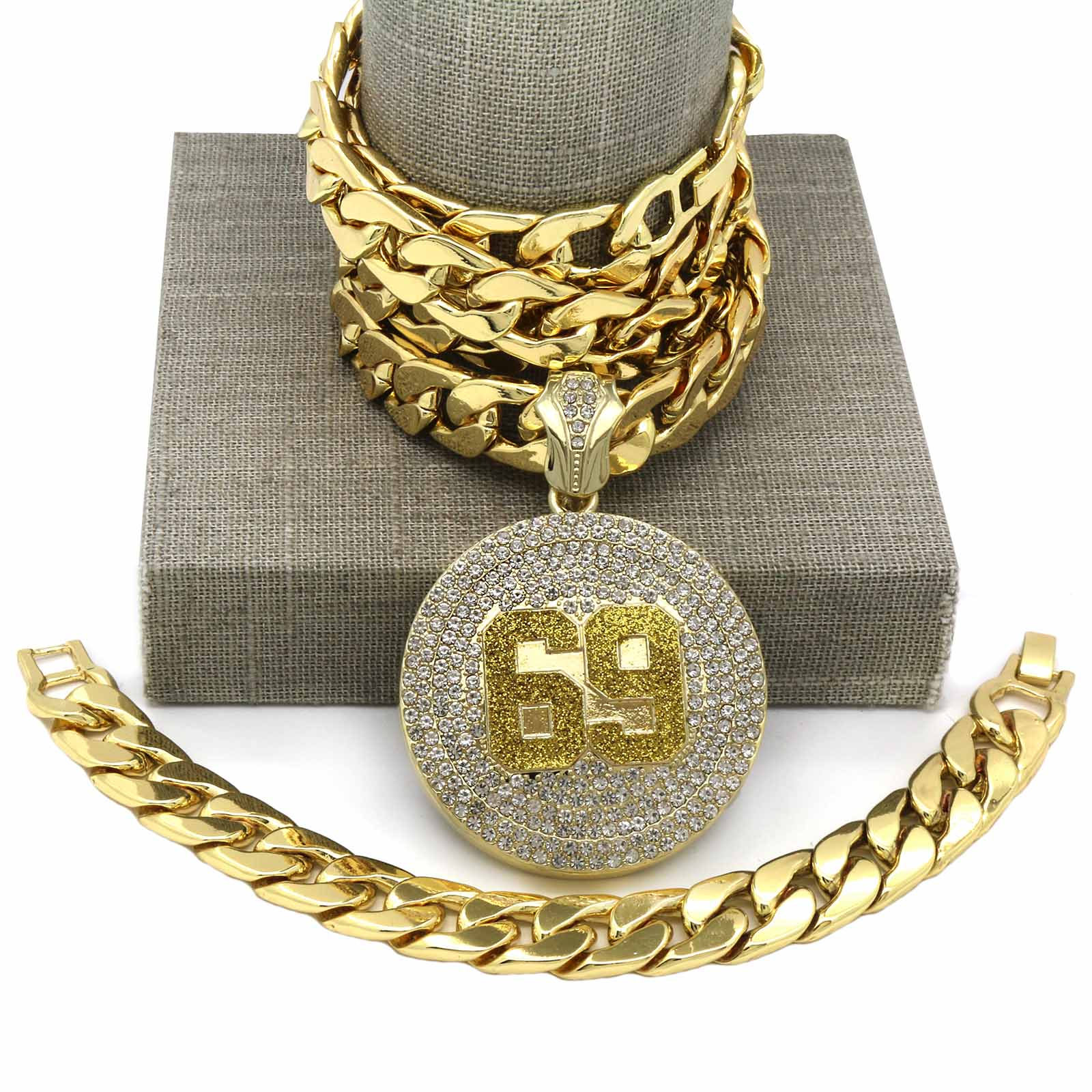 CUBAN CHAIN & BRACELET GOLD 69