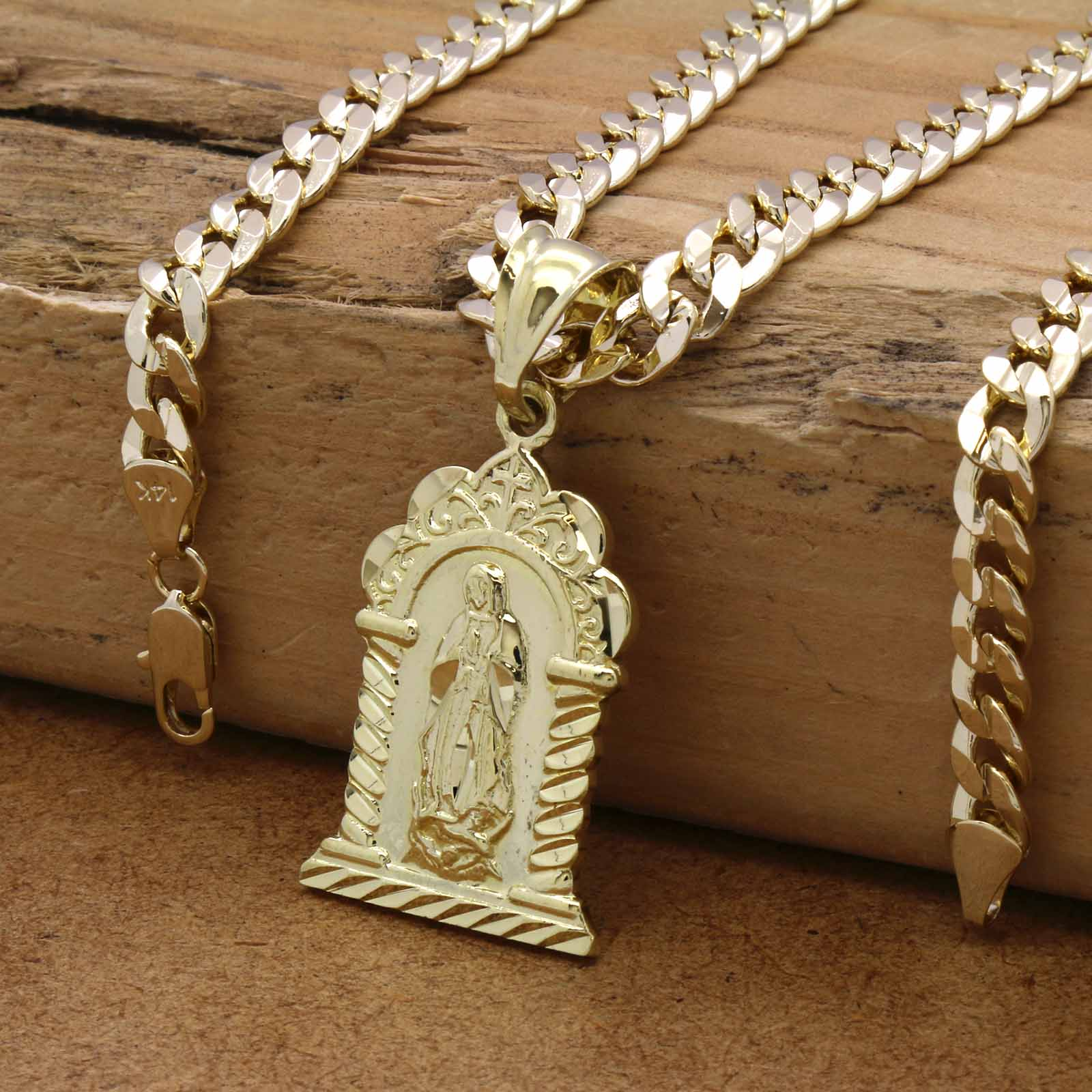VIRGIN GUADALUPE SHRINE PENDANT