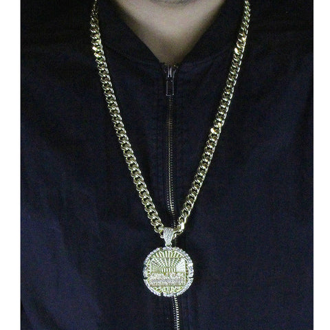 Gold Round Last Supper NECKLACE