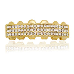 GOLD TOP GRILLZ 3 ROW