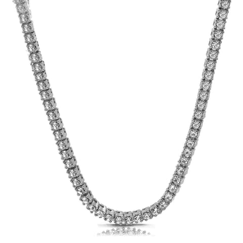 "White GOLD TENNIS CHAIN 18"" 20"" 24"" 30"""