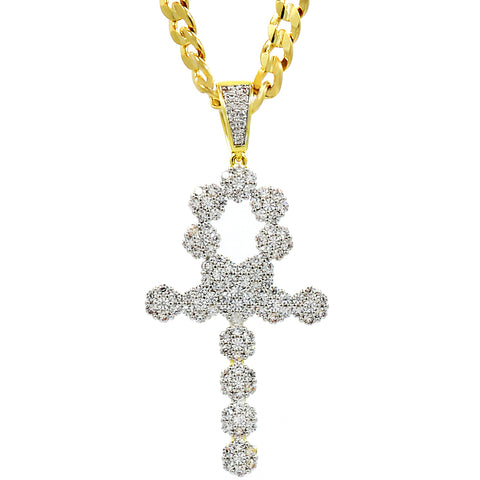 Ankh PENDANT WITH CUBAN CHAIN