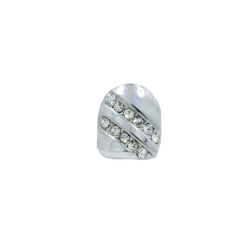 SILVER GRILLZ SINGLE 2LINE SIDE