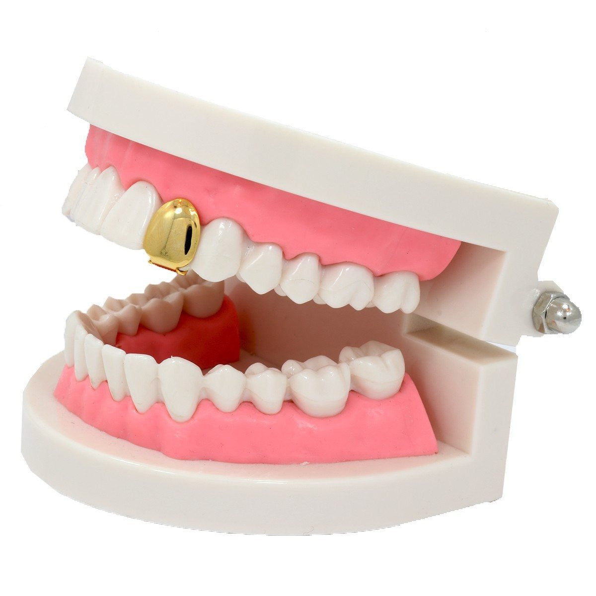 GOLD PLAIN SINGLE TOOTH GRILLZ