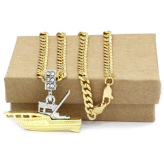 The Plain Yacht Boat Necklace
