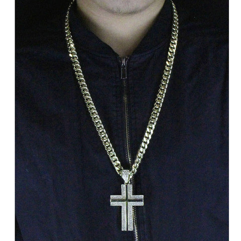 Gold Cross Mirror NECKLACE