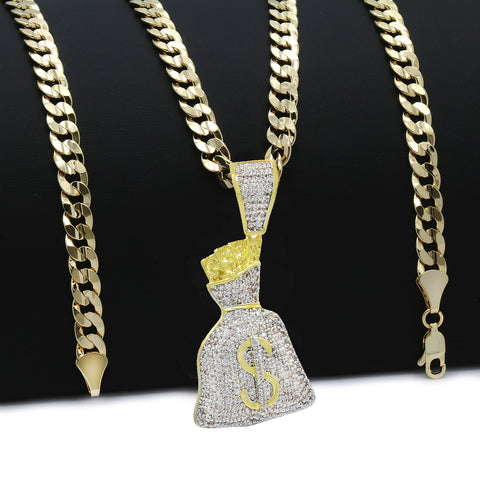 MONEY BAG PENDANT WITH Free Chain