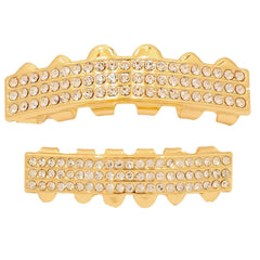 GRILLZ SET 3 ROW GOLD BLINGKING
