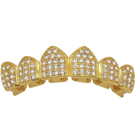 GOLD TOP GRILLZ CZ