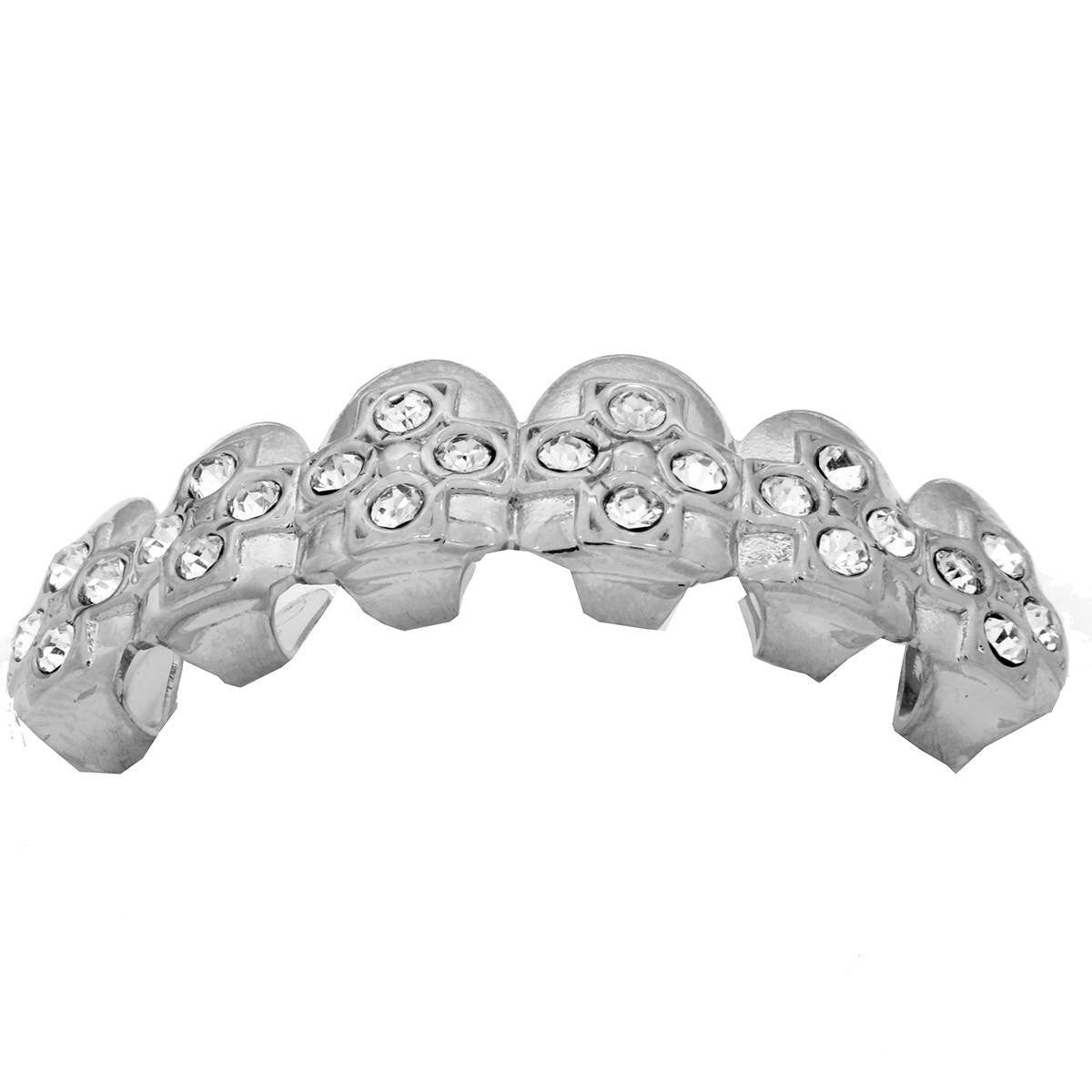 SILVER TOP GRILLZ CROSS