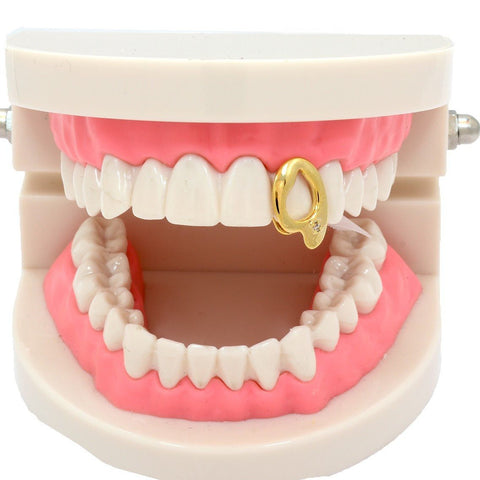 GOLD GRILLZ SINGLE OPEN FANG