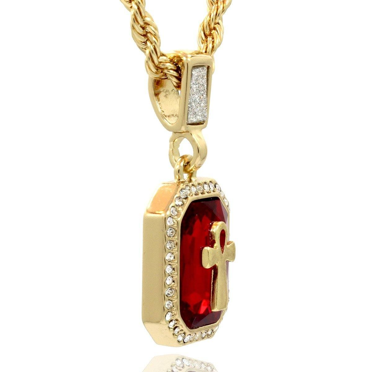 ruby fire gem products red pendant spicyice necklace