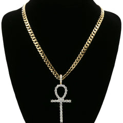 Ankh Long PENDANT WITH CUBAN CHAIN