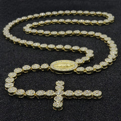 FLOWER ICED OUT  GUADALUPE ROSARY