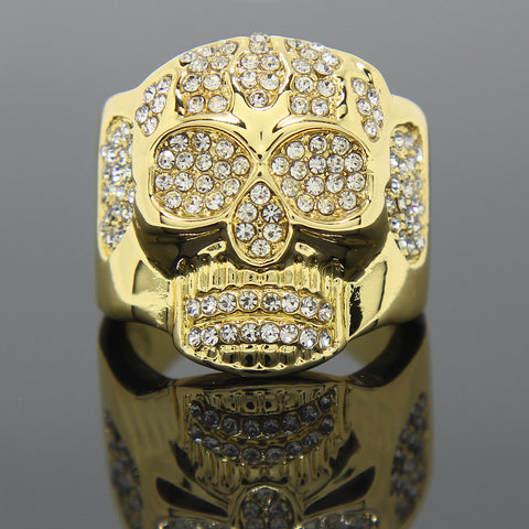 6 Row Rectangle Iced Out 4pcs Ring Set Bundle