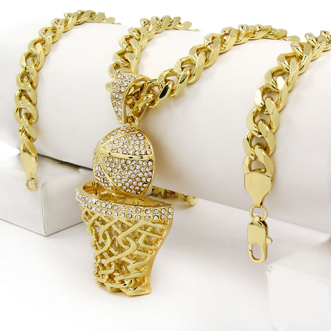 Gold Basket NECKLACE