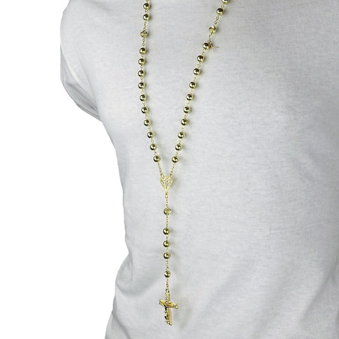 GOLD DIAMOND SHAPE ROSARY