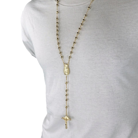 GOLD GUADALUPE ROSARY