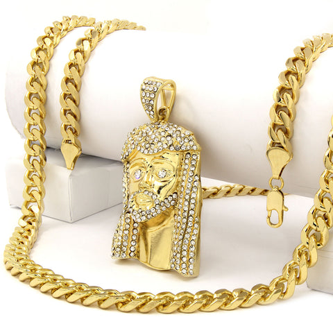 Gold Jesus 1 NECKLACE