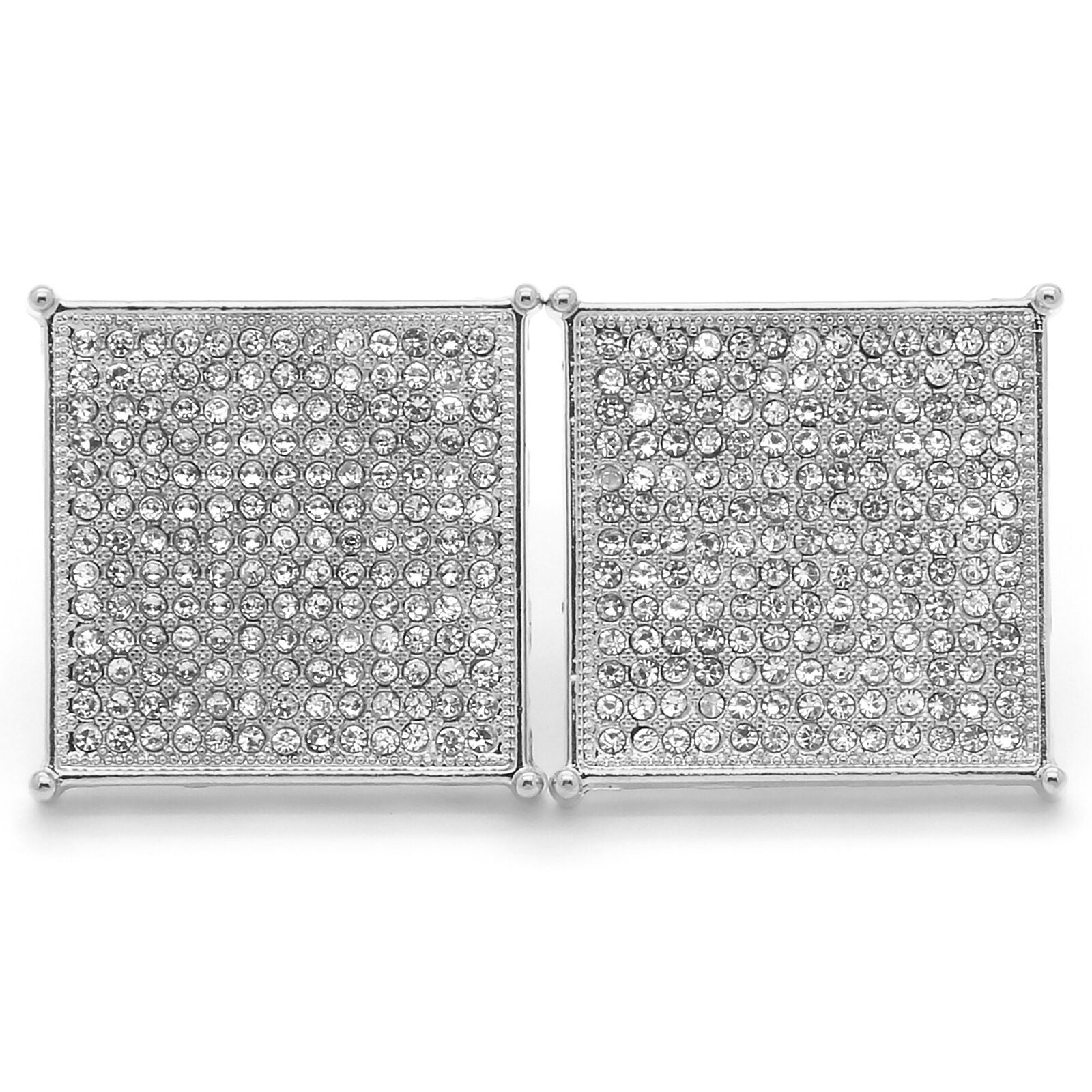 Silver Cz Flat Square Kite 13 Row