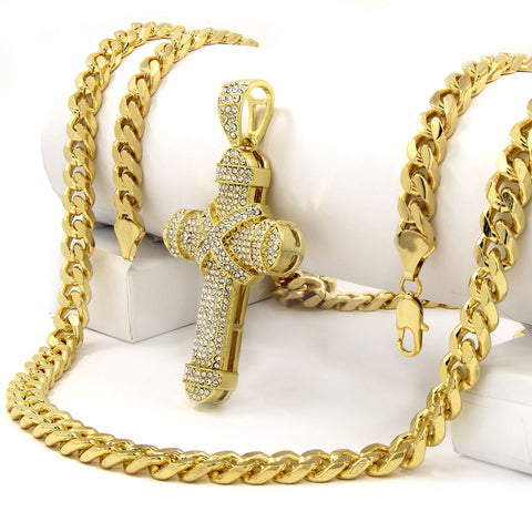 Gold Cross X Cross NECKLACE