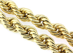 "24k Real Gold Plated Rope Chain Necklace 36"" Inches 14mm-25mm"