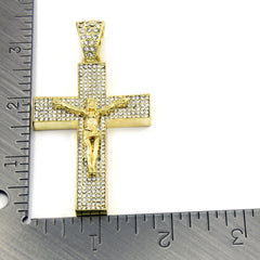 Gold Cross Jesus Hang NECKLACE