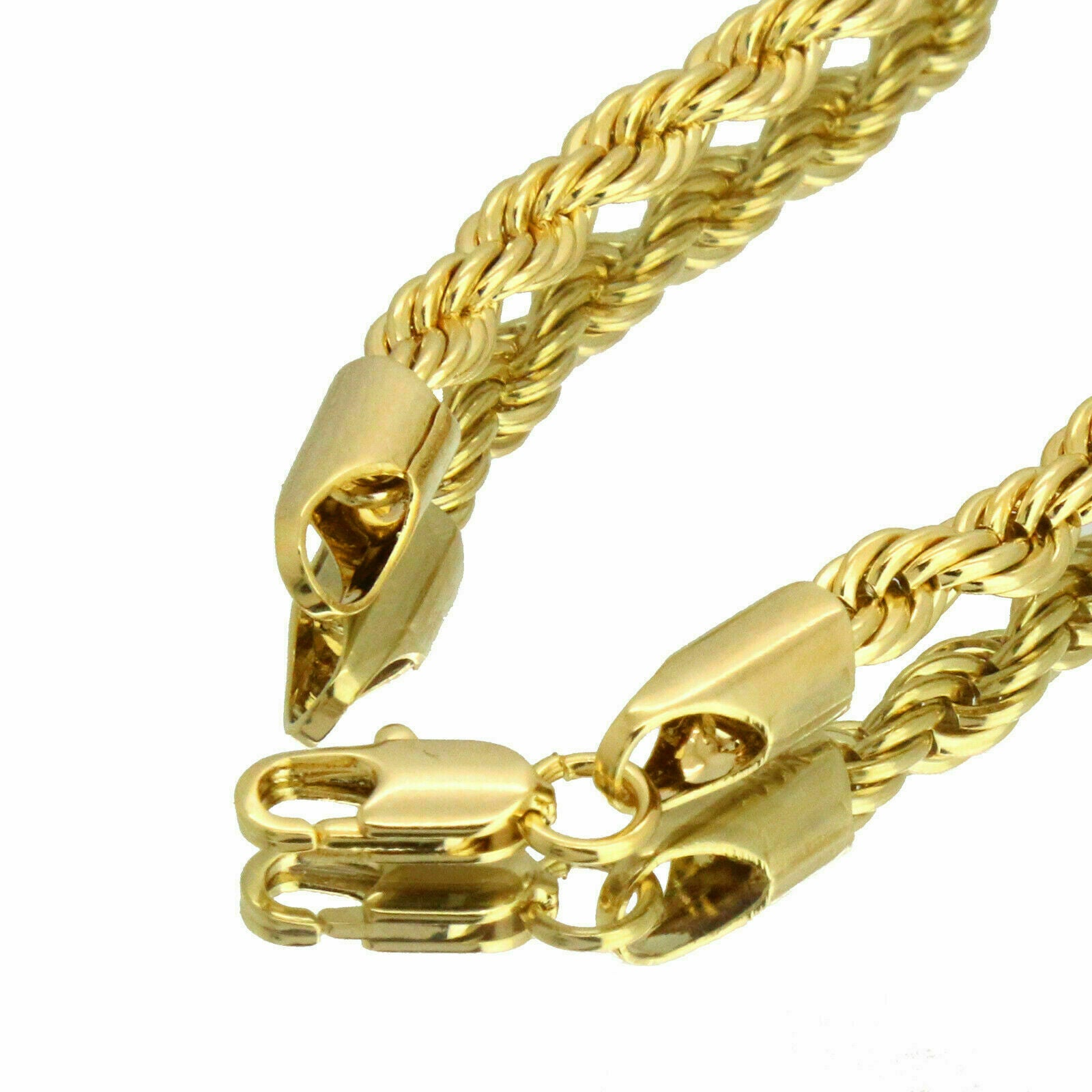 Gold / Clear #24 Jump CZ Man Basketball Pendant with Rope Chain