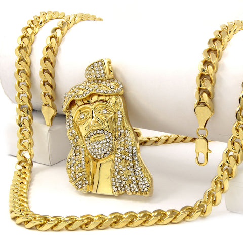 Gold Jesus 2 NECKLACE