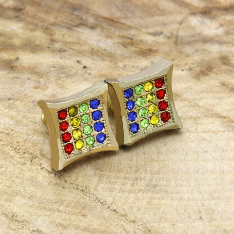 Cz Rainbow Kite GOLD FILLED EARRINGS