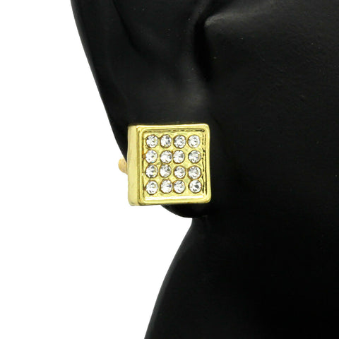 Cz Micro Pave GOLD FILLED EARRINGS